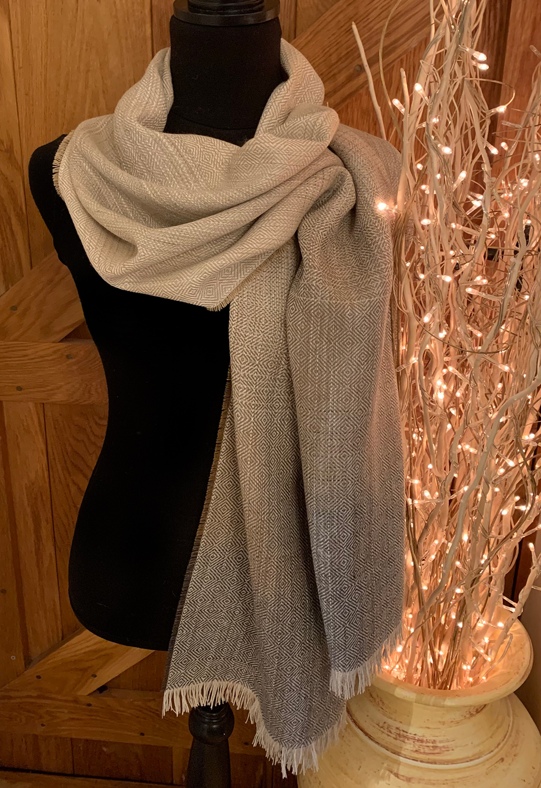 Fawn And Grey Colourway Scarves