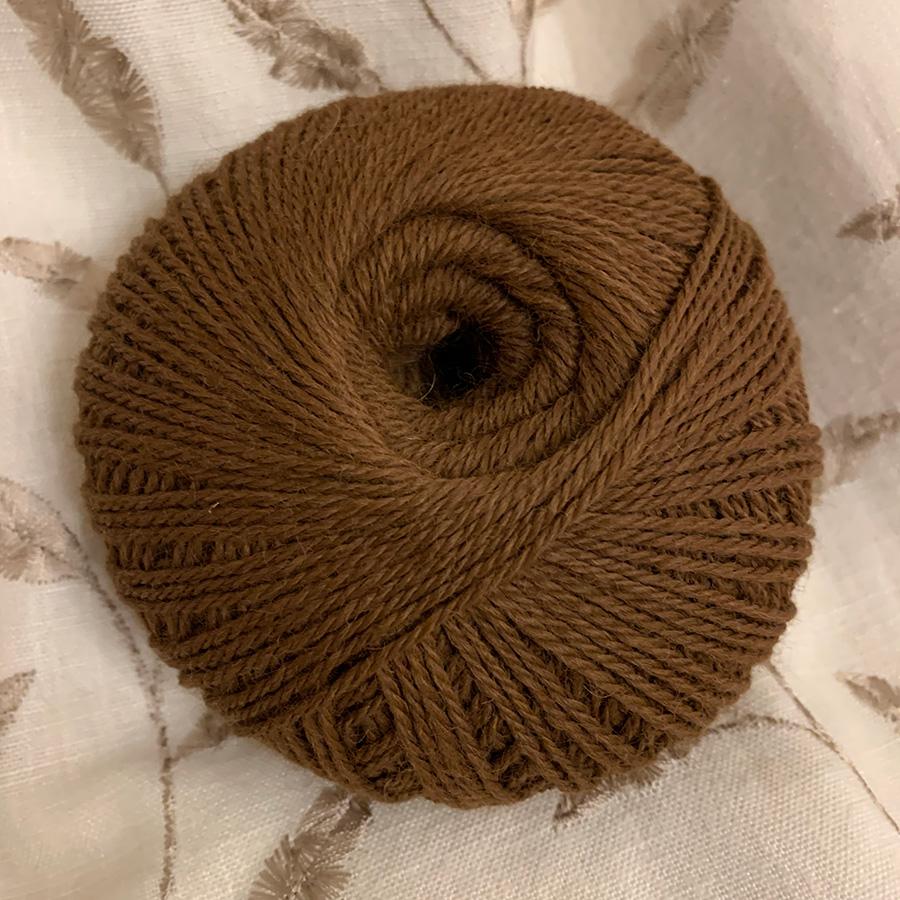 Chestnut Brown 100% pure alpaca wool