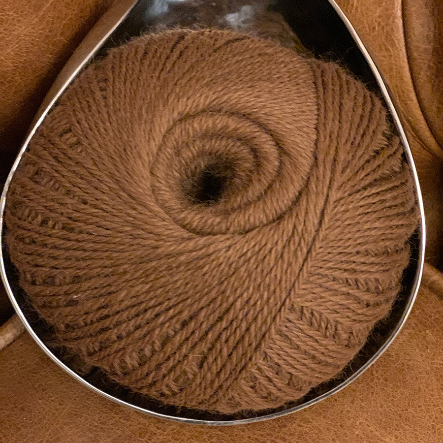 Chestnut Brown 100% Pure Alpaca Wool