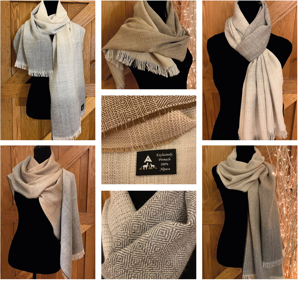 Pinnacle Alpacas Scarves