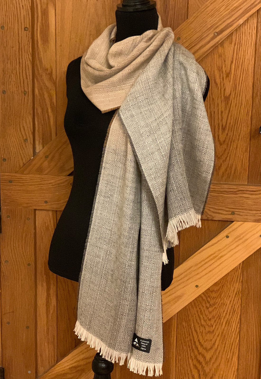 Fawn and Grey Colourway Scarves 2